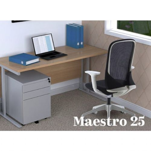 Maestro 25 Straight Desk & Sway Office Chair Bundle